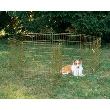 Exercise Pen with Door in Gold Finish