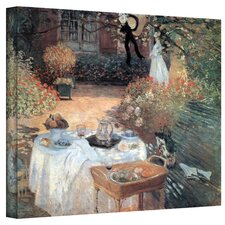 Claude Monet ''Garden Picnic'' Canvas Art