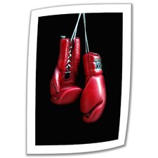 Dan Holm 'Red Gloves' Unwrapped Canvas Wall Art