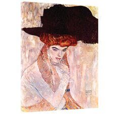 Gustav Klimt ''The Black Feather Hat'' Canvas Art
