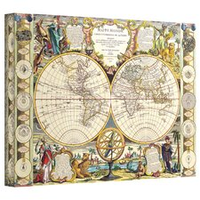 Antique Maps 'Mappe-Monde Carte Universelle de la Terre Dressee' Gallery-Wrapped Canvas Wall Art
