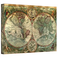 Antique Maps 'Treasure Map' Gallery-Wrapped Canvas Wall Art