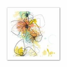 Jan Weiss 'Orange Botanica' Unwrapped Canvas Wall Art