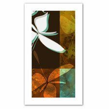 Jan Weiss 'Espresso Floral II' Unwrapped Canvas Wall Art