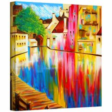 Susi Franco 'River Through Treviso' Gallery-Wrapped Canvas Wall Art