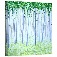 Herb Dickinson 'Misty Woodlands' Unwrapped Canvas Wall Art
