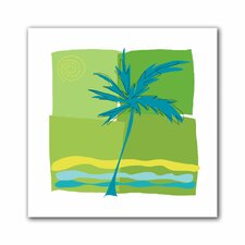 Jan Weiss 'Single Palm' Unwrapped Canvas Wall Art