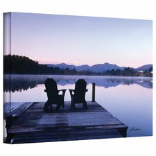 Linda Parker 'Mirror Lake, Lake Placid' Gallery-Wrapped Canvas Wall Art