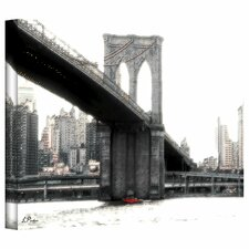 Linda Parker 'NYC Brooklyn Bridge' Gallery-Wrapped Canvas Wall Art