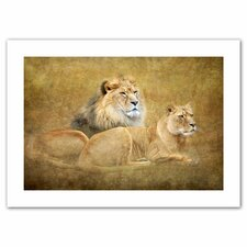 David Liam Kyle 'Lions' Unwrapped Canvas Wall Art