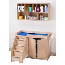 Right Changing Table with Stairs Combo