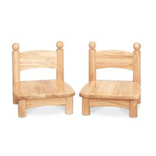 "Wooden Chair Pair -  5"" seat height"