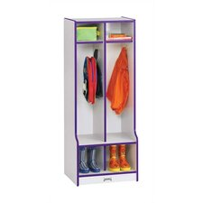 "Rainbow Accents Double Locker with Step - Rectangular (20"" x 17.5"")"