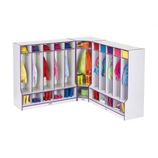 "KYDZ Rainbow Accents Coat Locker Corner Section - Rectangular (24"" x 17.5)"