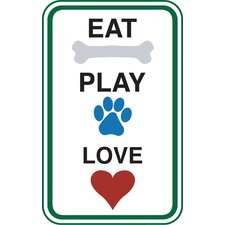 Eat Play Love Car Magnet