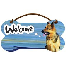 German Shepherd Welcome Wall Sign