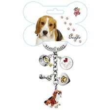 Beagle Enamel Key Chain