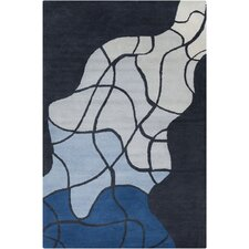 Cinzia Dark Grey/Blue Geometric Rug