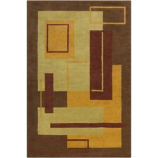 Cinzia Brown Geometric Rug