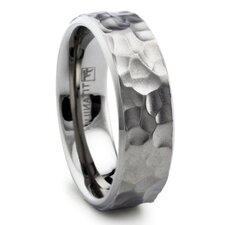 Titanium Hammered Comfort Fit Wedding Band