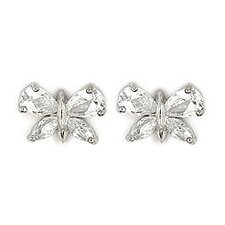 Butterfly Cubic Zirconia Stud Earrings