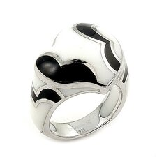 Designo Sterling Silver Curved Heart Ring