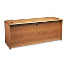 10700 Full-Height Right Ped Credenza, 72w x 24d x 29-1/2h, Med Oak Frame/Top