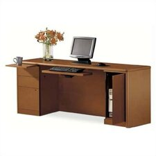 "10700 Series 72"" W Left Box/Box/File Pedestal Credenza with Right CPU Storage"