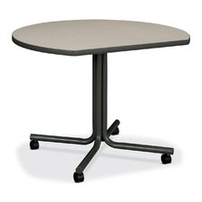 61000 Conference End Table w/Casters, Round, 29-1/2h x 42dia, Gray