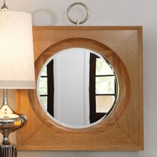 Ring Mirror with Light Limed