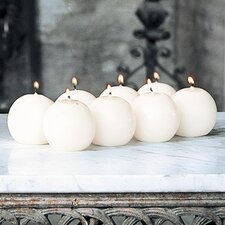 "Unscented 2.5"" Ball Candles (Set of 8)"