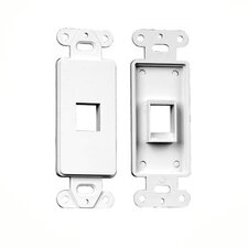 Single RJ45 Wall Plate Insert