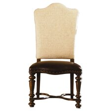 Bolero Upholstered Back Side Chair in Cherry