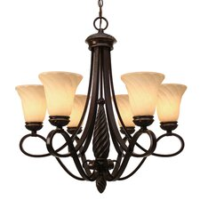 Elizabeth 6 Light Chandelier in Bronze