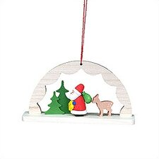 Archway with Santa Ornament