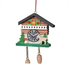 Chalet Cuckoo Clock with Tree Ornament