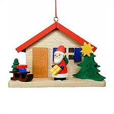 Santa by House Ornament