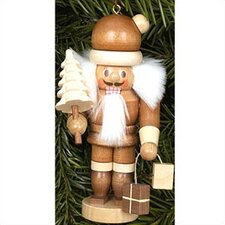 Natural Wood Mini Santa Nutcracker