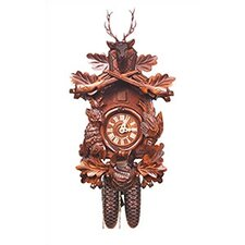 Cuckoo Clock with 8 Day Weight Driven Movement and Deer Head