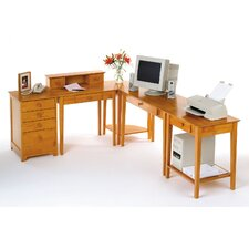 Studio Home L-Shape Desk 5 Piece Office Suite