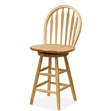 "Basics Natural 24"" Swivel Windsor Bar Stool"