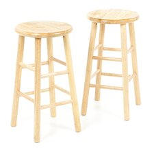 "Basics 24"" Natural Barstool (Set of 2)"