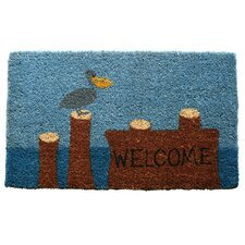 Pelican Welcome Handwoven Coconut Fiber Doormat