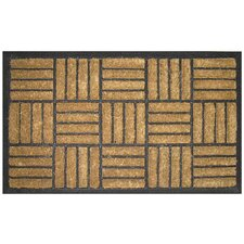 Bootscraper - Recycled Rubber and Coir Criss Cross Doormat