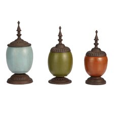 Patch Vases with Lids (Set of 3)
