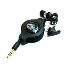 Retractable Earphone Cable, Black, 1.2M