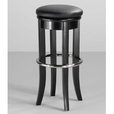 "30"" Black and Chrome Bar Stool with Swivel"