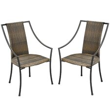 Laguna Slope Dining Arm Chairs with Cushions (Set of 2)