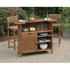 Montego Bay 3 Piece Bar Cabinet Set