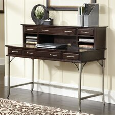 Bordeaux Executive Desk with Hutch